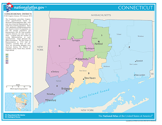 connecticut election congressional districts