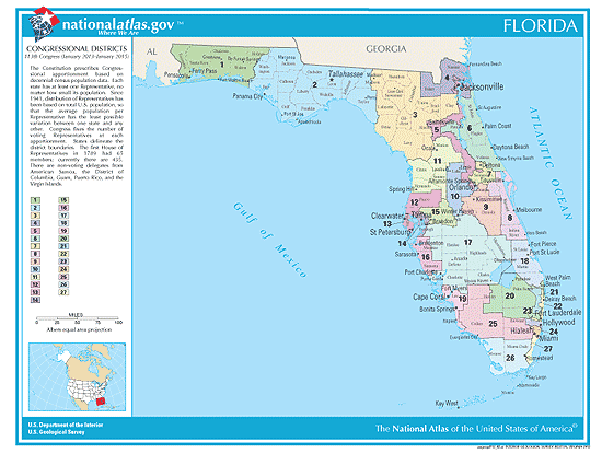 2019 Florida Elections Candidates Races And Voting - Us-house-of-representatives-map-by-state