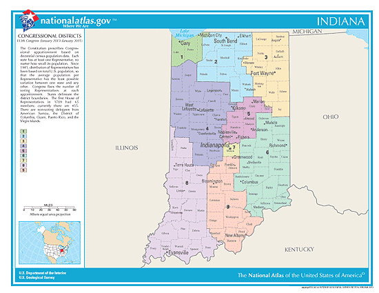 indiana election congressional districts