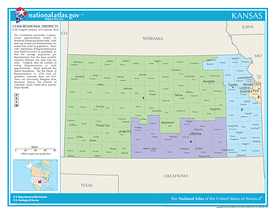Kansas Elections Candidates Races And Voting - District map of texas for us house of representatives