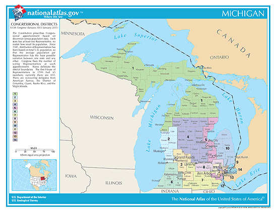 michigan congressional districts