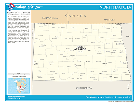 north dakota election congressional districts