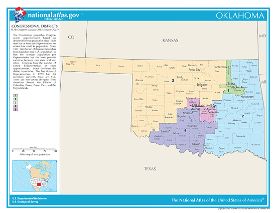 oklahoma election congressional districts