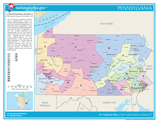 pennsylvania election congressional districts