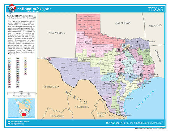 Texas Election Congressional Districts