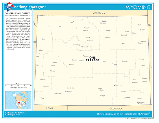 wyoming election congressional districts